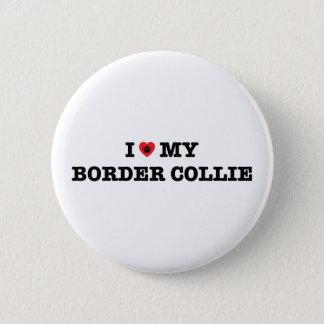 I Hart Mijn Knoop van Border collie Ronde Button 5,7 Cm