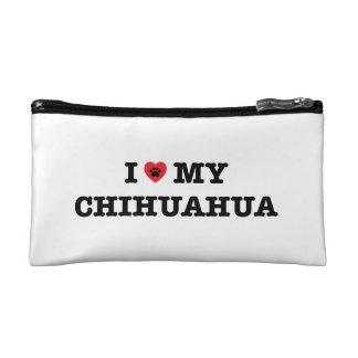 I Hart Mijn Kosmetische Zak Chihuahua Cosmetica Tasje Small