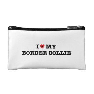 I Hart Mijn Kosmetische Zak van Border collie Cosmetic Tasje Small