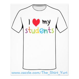 I Hart Mijn Liefde van de Leraar van Studenten Flyer 11,4 X 14,2 Cm