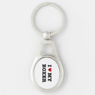 I Hart Mijn Metaal Keychain van de Bokser