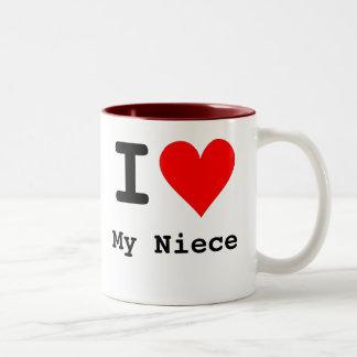I Hart Mijn Nicht Tweekleurige Koffiemok