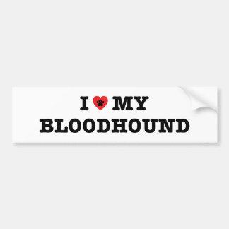I Hart Mijn Sticker van de Bumper van de Bloedhond