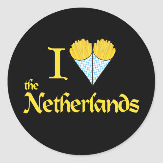 I Hart Nederland Ronde Stickers