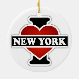 I Hart New York Rond Keramisch Ornament