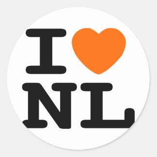 I hart NL Ronde Sticker