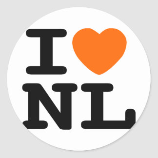 I hart NL Ronde Stickers