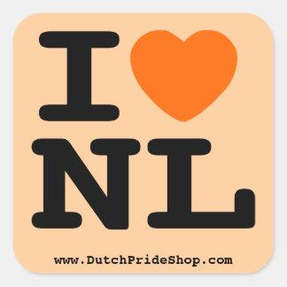 I hart NL Vierkante Stickers