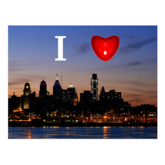 I Hart Philly bij het Briefkaart van de Schemering