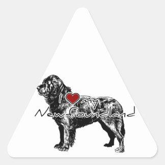 """I """"hart"""" woorden van mijn Windhond de"""" met Driehoek Sticker"""