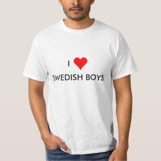 i hart Zweedse jongens T Shirt