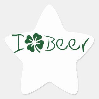 I het Bier van de Klaver Ster Sticker