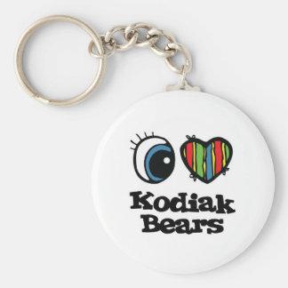 I het Hart (Liefde) Kodiak draagt Sleutelhanger