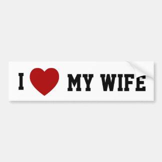 I (het hart) Mijn Vrouw - bumpersticker