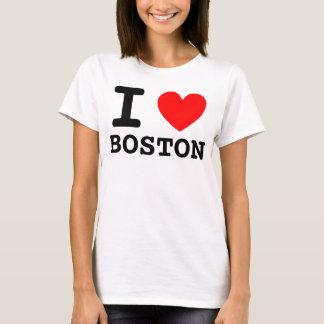 I het Overhemd van Boston van het Hart T Shirt