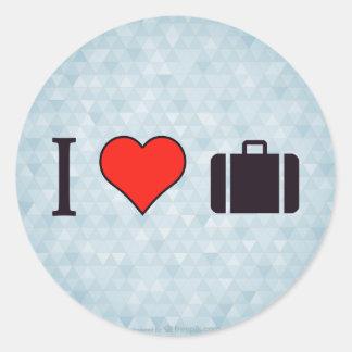 I het Reizen van het Hart Ronde Sticker