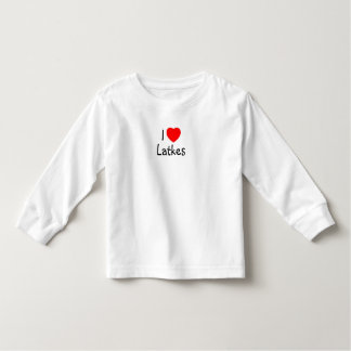 """I kinder lange het sleevet-shirt van """"hart"""" Latkes Kinder Shirts"""