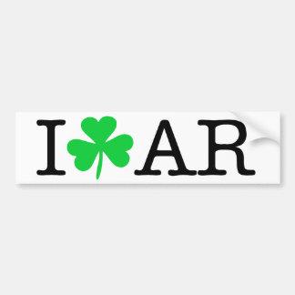 I Klaver (het Hart van de Liefde) Arkansas AR Bumpersticker