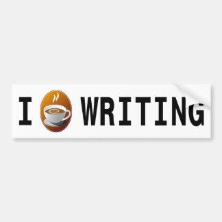 I [koffie] schrijvend bumpersticker