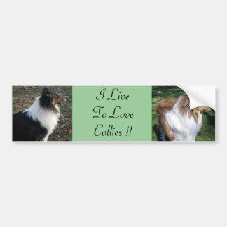 I LiveTo LoveCollies!! Bumpersticker