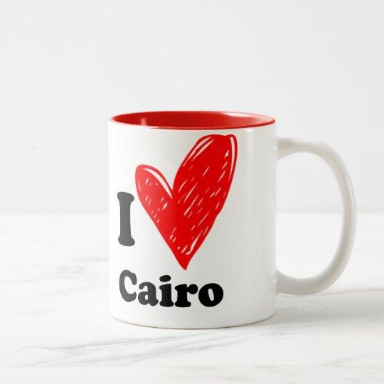 I love Cairo Tweekleurige Koffiemok