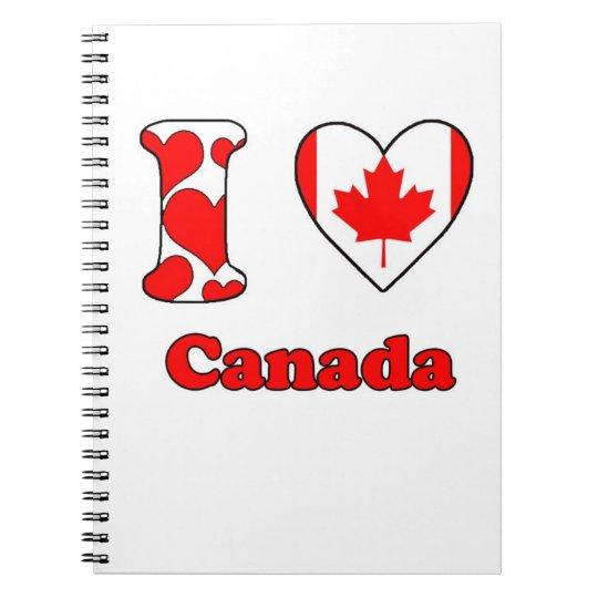 I love Canada Notitieboek