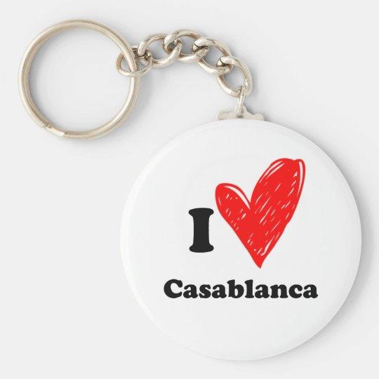 I love Casablanca Sleutelhanger
