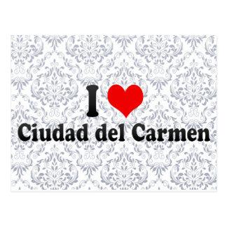 I Love Ciudad del Carmen, Mexico Briefkaart