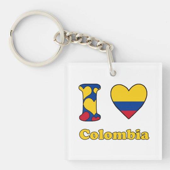 I love Colombia Sleutelhanger