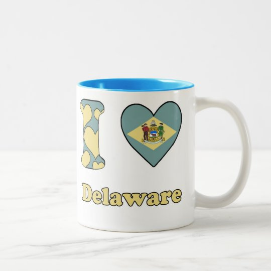 I love Delaware Tweekleurige Koffiemok