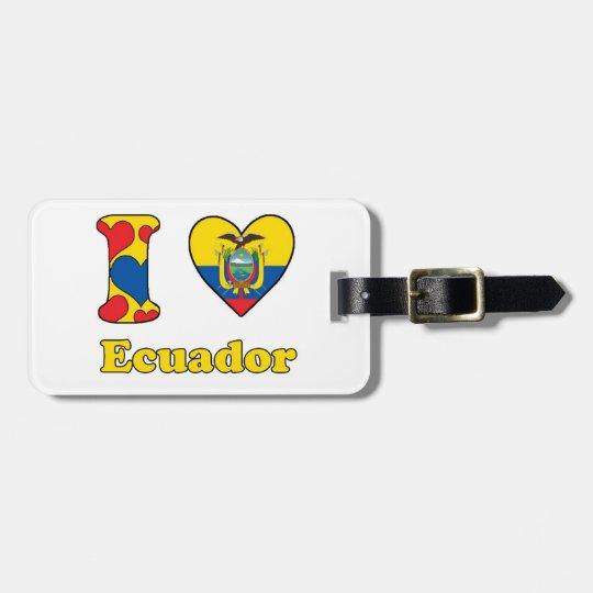I love Ecuador Kofferlabels