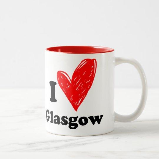 I love Glasgow Tweekleurige Koffiemok