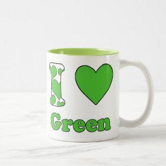 I love Green Tweekleurige Koffiemok