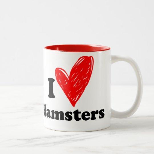 I love Hamsters Tweekleurige Koffiemok