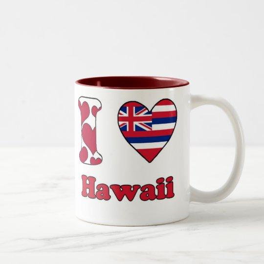 I love Hawaii Tweekleurige Koffiemok