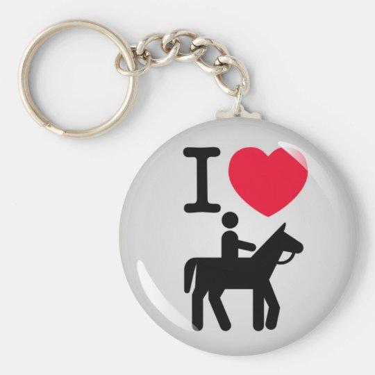 I love horseriding sleutelhanger