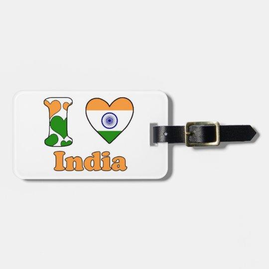 I love India Kofferlabels