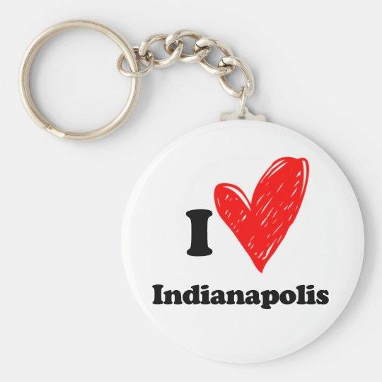 I love Indianapolis Sleutelhanger