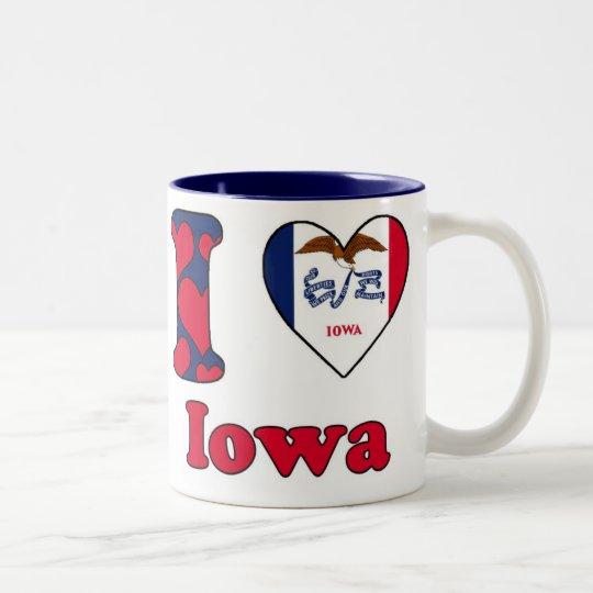 I love Iowa Tweekleurige Koffiemok