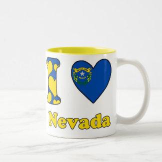 I love Nevada Tweekleurige Koffiemok