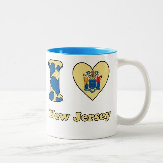I love New Jersey Tweekleurige Koffiemok