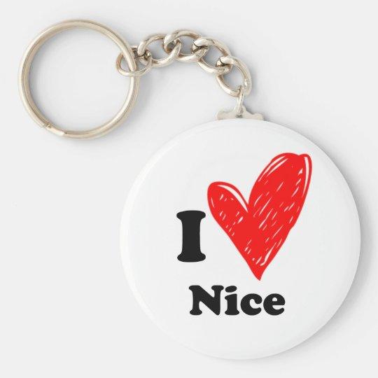 I love Nice Sleutelhanger