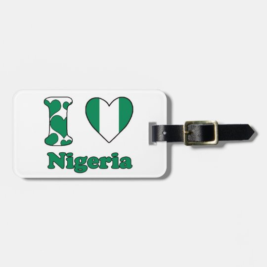 I love Nigeria Kofferlabels