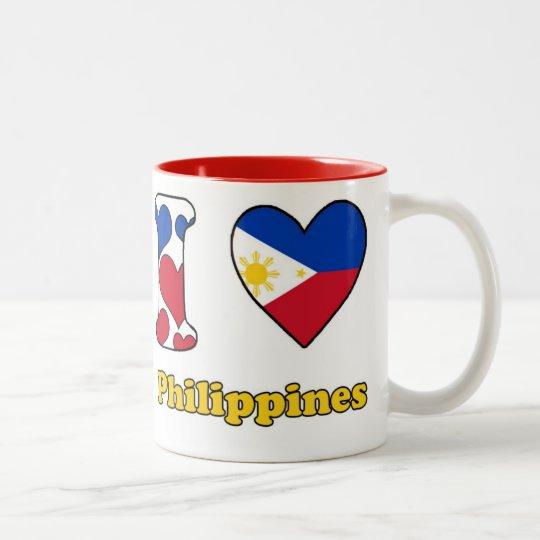 I love Philippines Tweekleurige Koffiemok