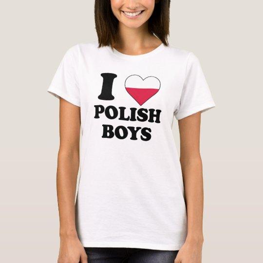 I love Polish Boys T Shirt