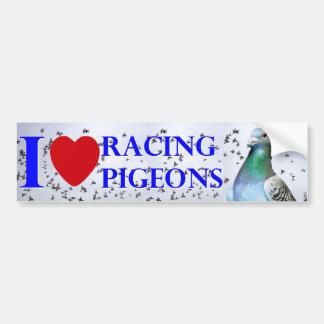 I love racing pigeons bumpersticker
