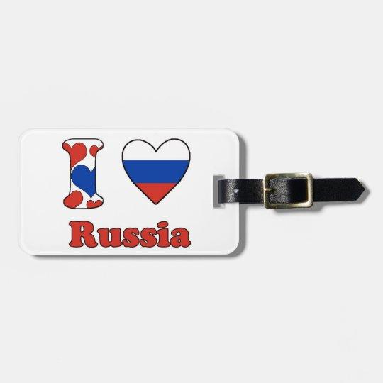 I love Russia Bagagelabel