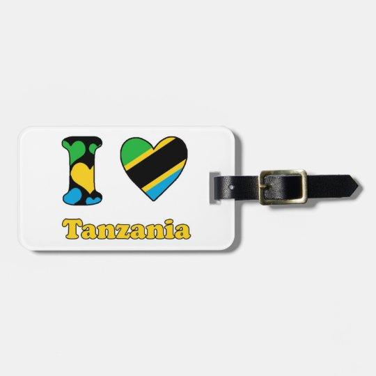 I love Tanzania Bagagelabel
