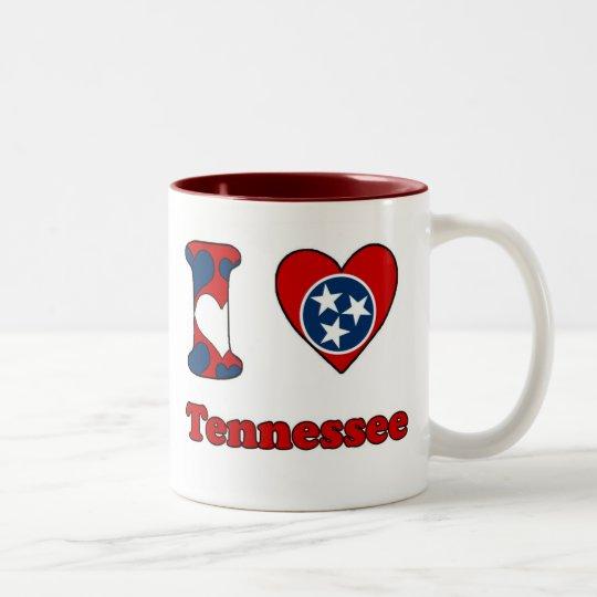 I love Tennessee Tweekleurige Koffiemok