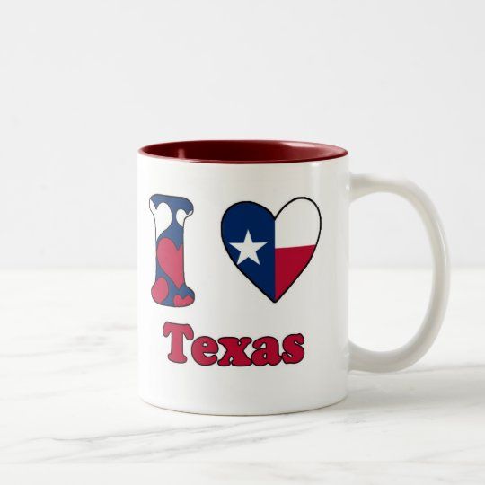 I love Texas Tweekleurige Koffiemok
